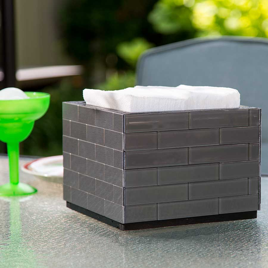 Napkin Holder with Aspect Glass Tiles