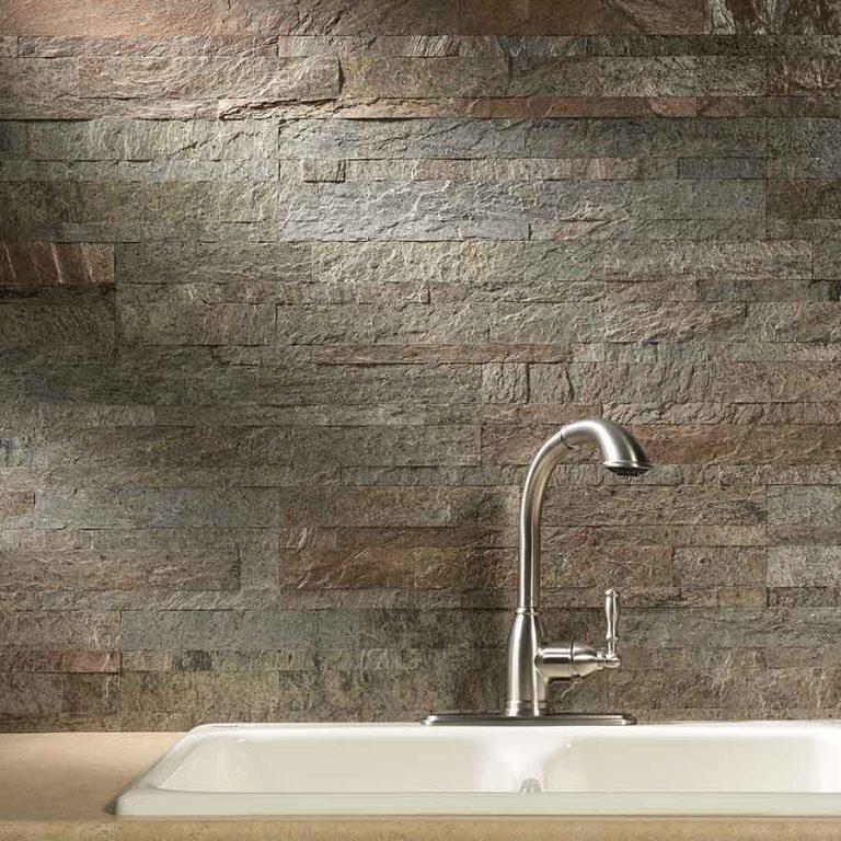 aspect peel and stick stone backsplash