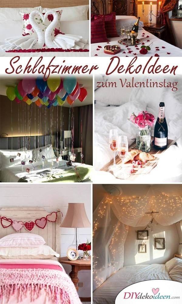 Charmante DIY Schlafzimmer DekoIdeen zum Valentinstag