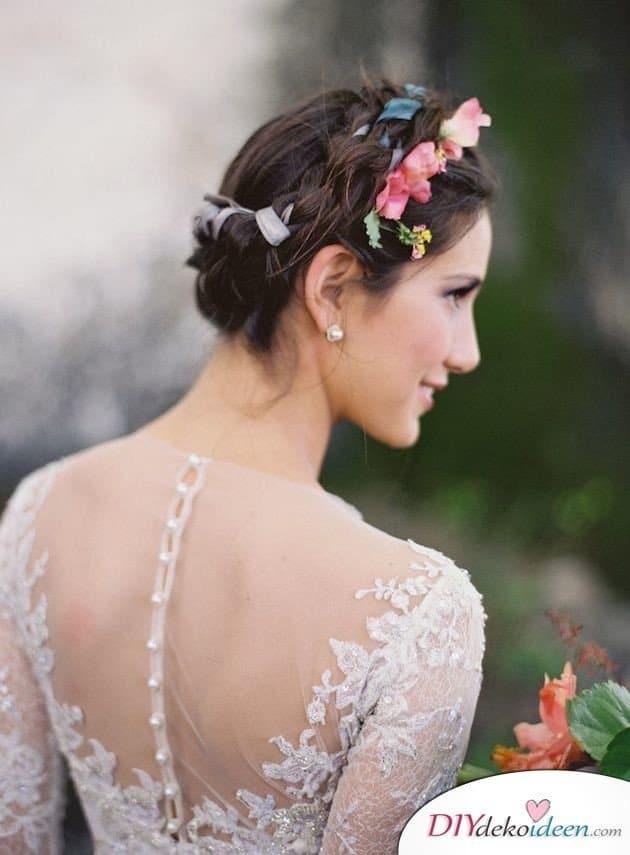 Die besten DIY Brautfrisuren fr kurze Haare Elegant