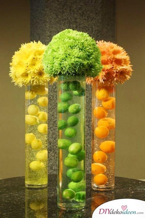 Sommerliche Tischdeko mit Zitronen  Erfrischende DIY Dekoideen