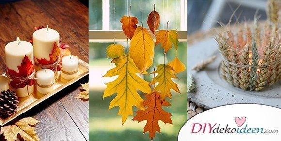 Herbstdeko selber machen  15 DIY Bastelideen fr die