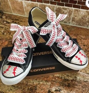 Converse baseball bling.
