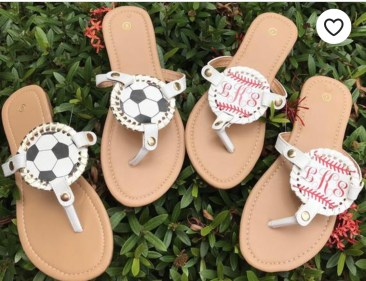 Sports themed sandals