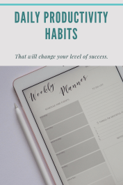Daily Productivity Habits. Plan your day.