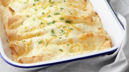 Meals you can make fast. Creamy chicken enchiladas.