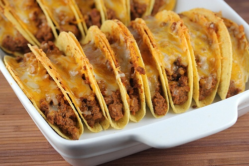 Quick meal ideas. Baked tacos.