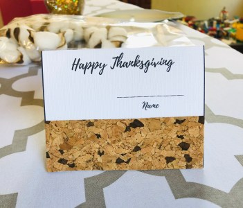 Thanksgiving decorations: place card