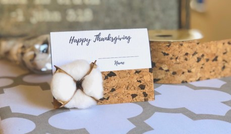 Thanksgiving decorations: DIY place cards