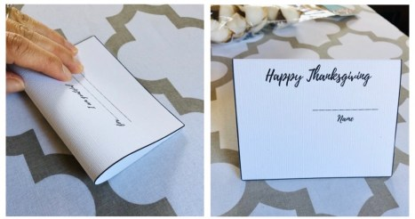 Fold place card.