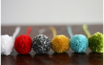 Birthday car + gift ideas: pom pom bookmark