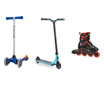 4 gift rule ideas: scooters and skates