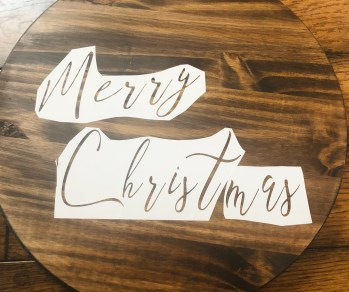 DIY Christmas Sign: Cricut method