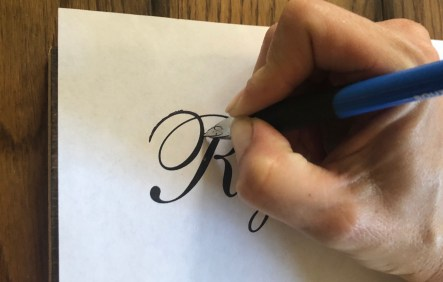 Chalk method: tracing the font