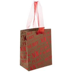 Red foil gift bag