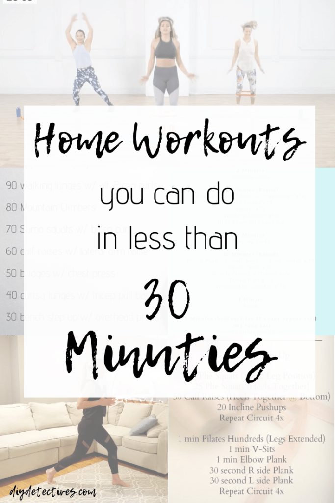 Home Workouts You Can Do in Less than 30 Minutes