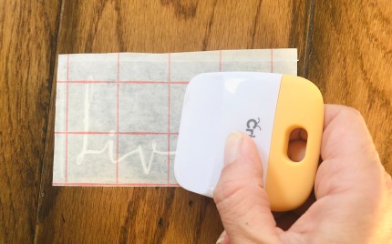 DIY craft: securing transfer tape.