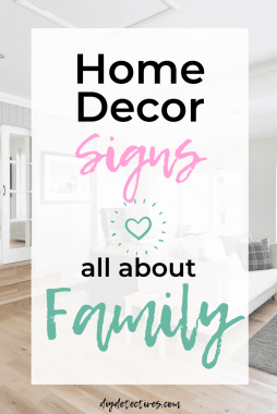 Home Decor Signs All About Family