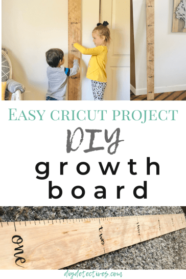 Easy Cricut Project: DIY Growth Board