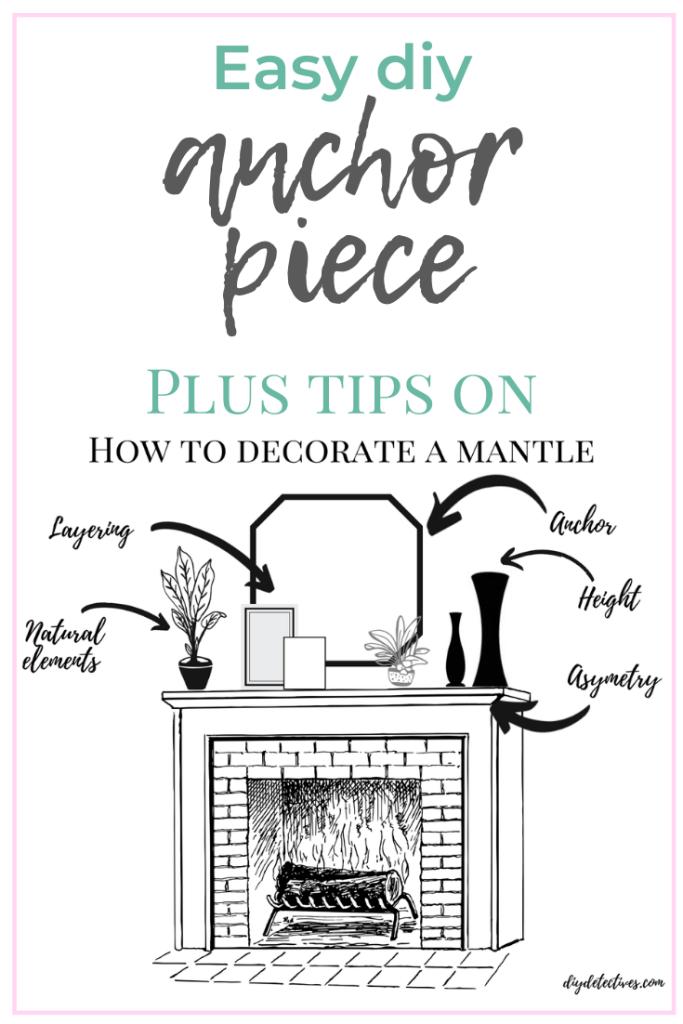 Easy DIY Anchor Piece + Mantle Decor Tips