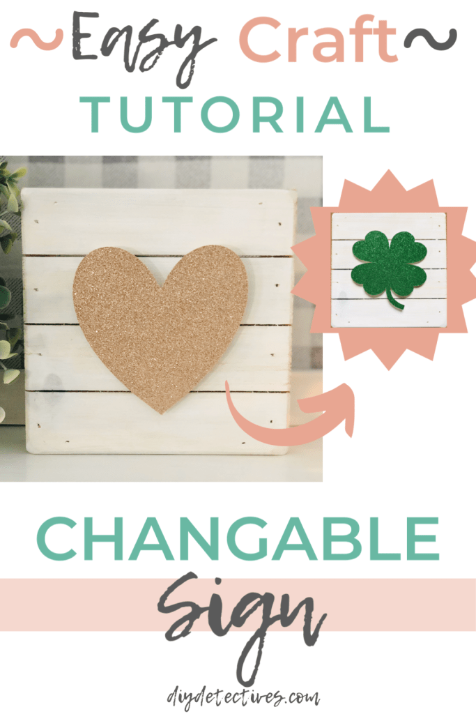 Easy Craft Tutorial for a Changeable Sign