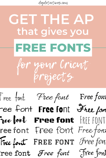 Get the Ap That Gives You Free Fonts for Cricut