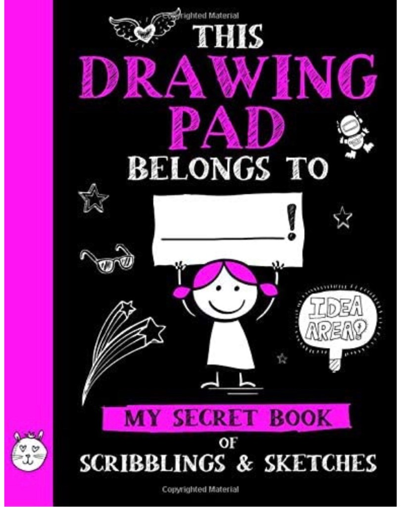 Sketchbook for girls for how to draw videos