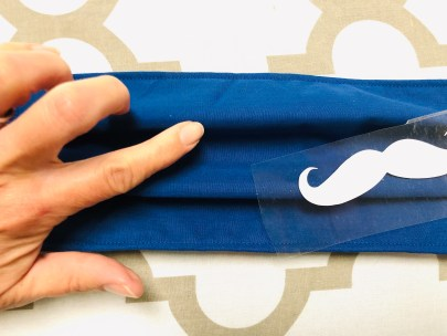DIY face mask with mustache
