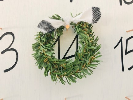 Hang your mini wreath.