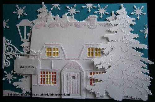 white christmas card witte kerstkaart maken diydiva