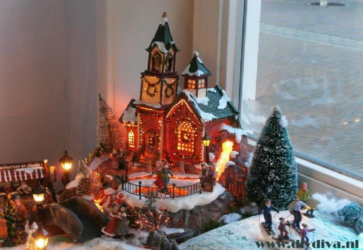 kerstdorp zelf maken diydiva