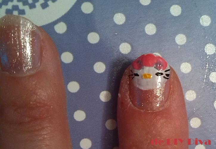 Hello Kitty nagels diydiva