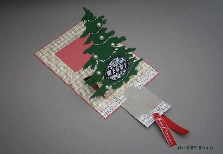 kerstboom kaart diydiva tutorial