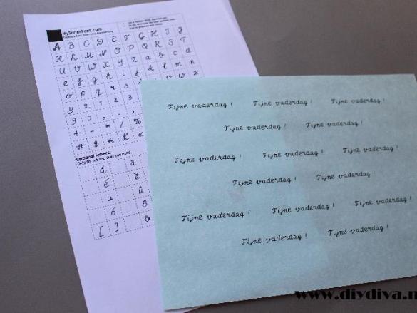 Je eigen handschrift als lettertype ?