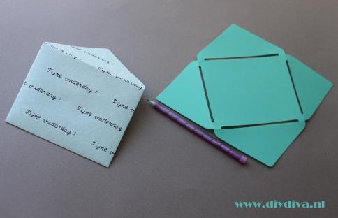 zelf envelop maken diydiva