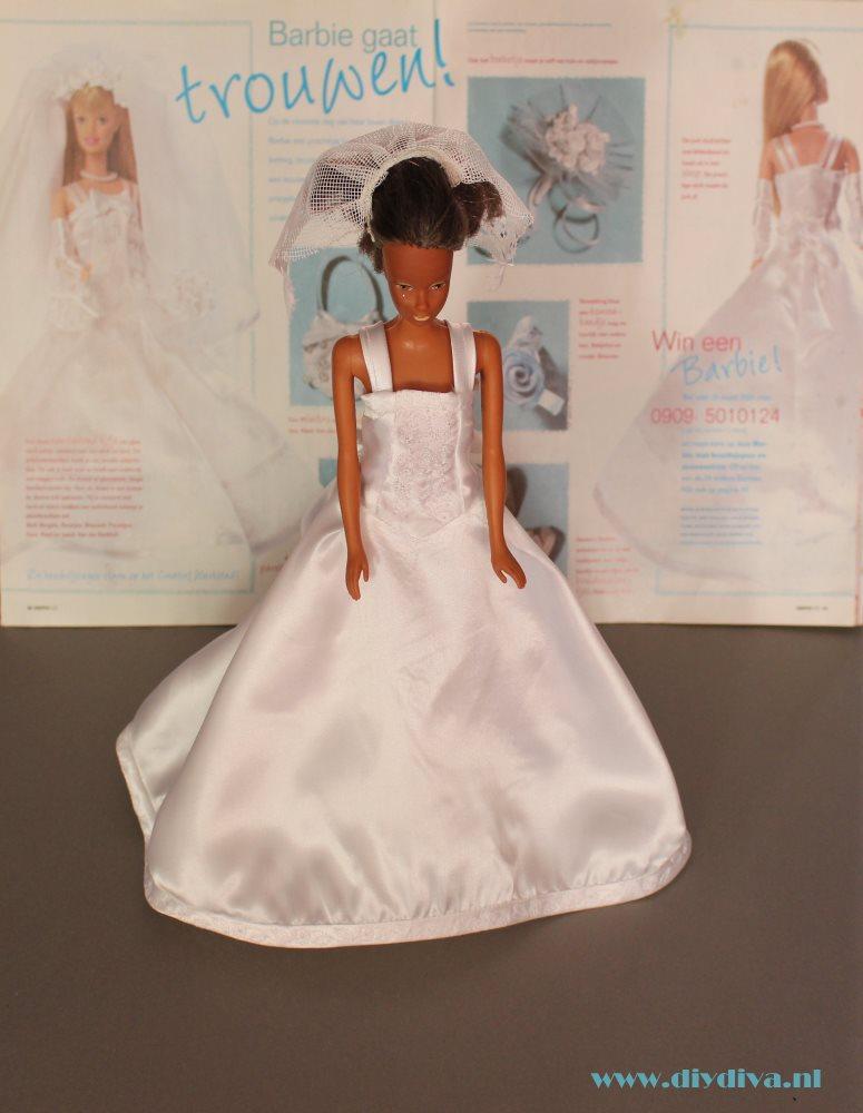 Knippie 2001 barbie bruidsjurk patroon diydiva