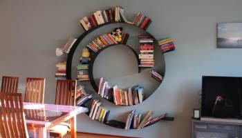 boekenwurm in huis