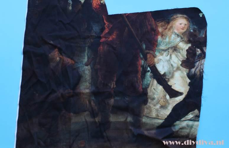 Rembrandt stof panel meisje diydiva