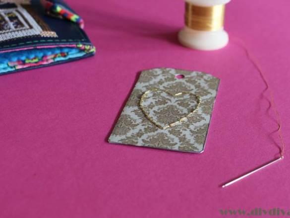 Hartje borduren voor Valentijnsdag