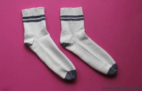 zelfgebreide tennis sokken diydiva