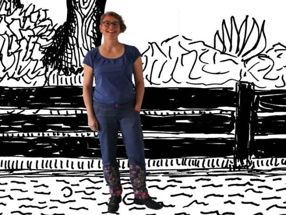 Nieuwe flowerpower jeans