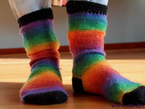 Regenboog sokken