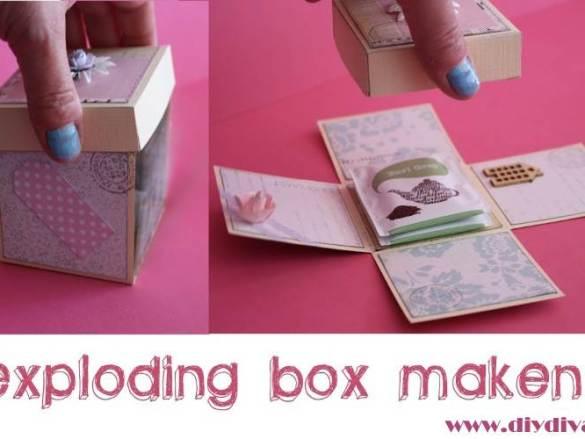 Moederdag idee: theezakjes exploding box