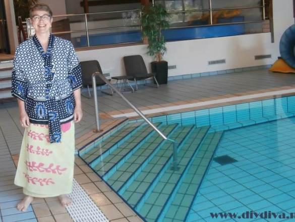 Kimono voor het zwembad
