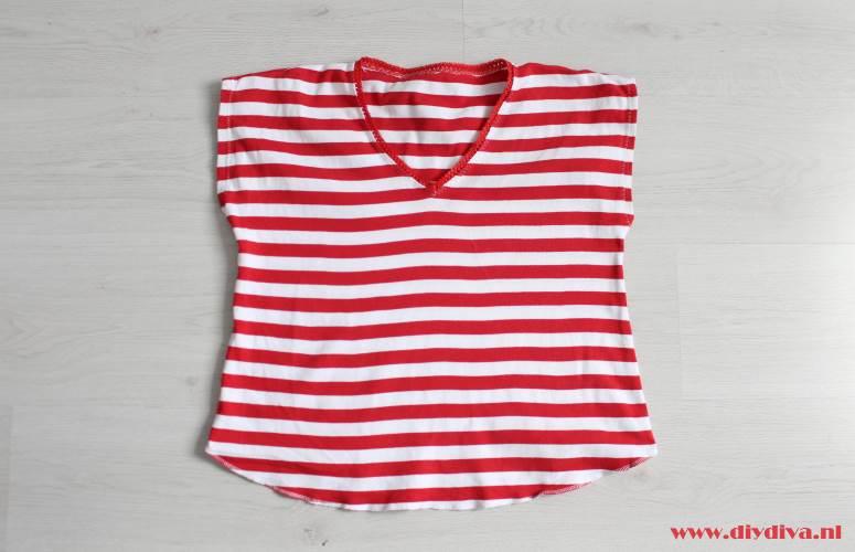 roodwit shirt diydiva