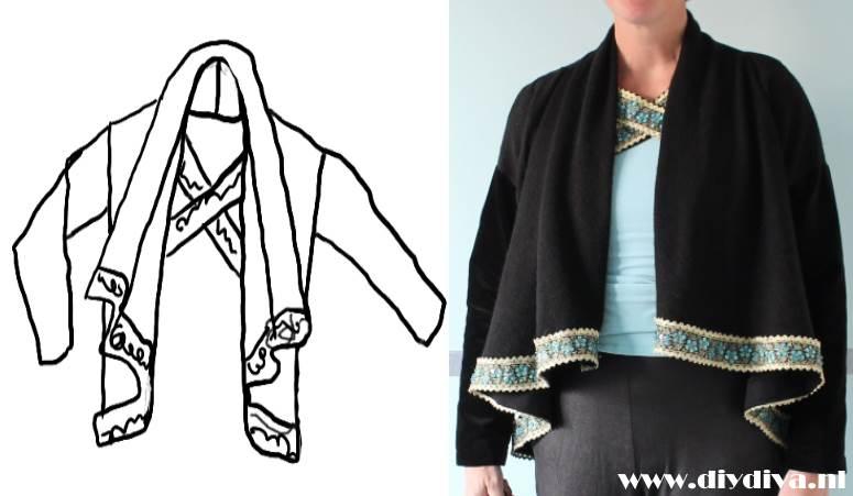 Burda 2010 jasje diydiva zelf kleding naaien