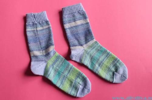 zelfgebreide sokken