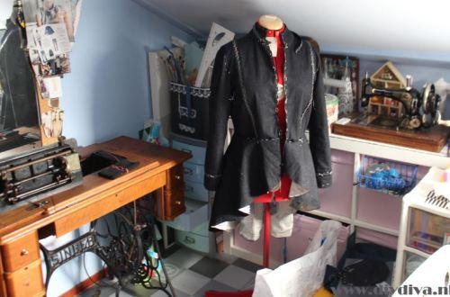 zwart jasje met rok eraan diydiva