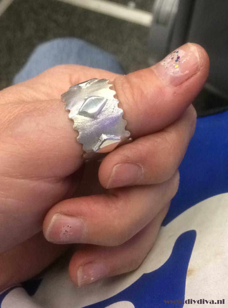 zelf zilveren ring maken diydiva