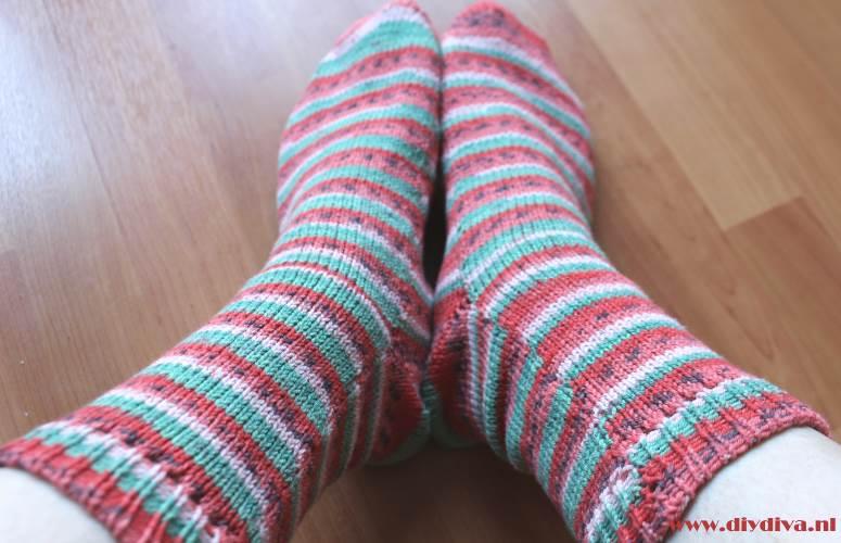 watermeloen sokken regia diydiva